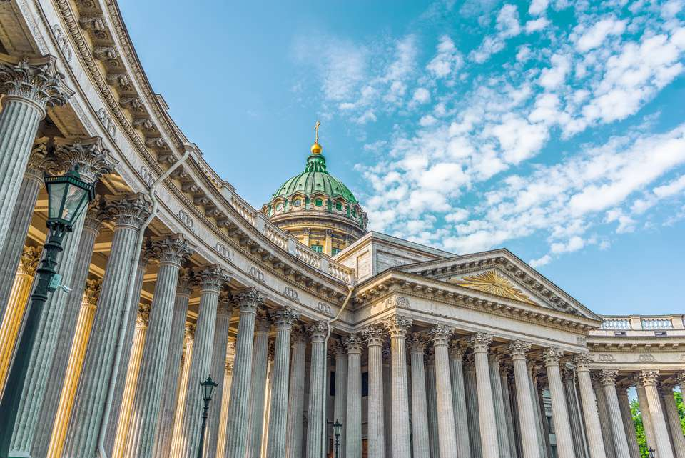 Kazan Cathedral in the city of St. Petersburg.