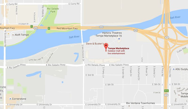 Address Directions and Map to Tempe Marketplace in AZ