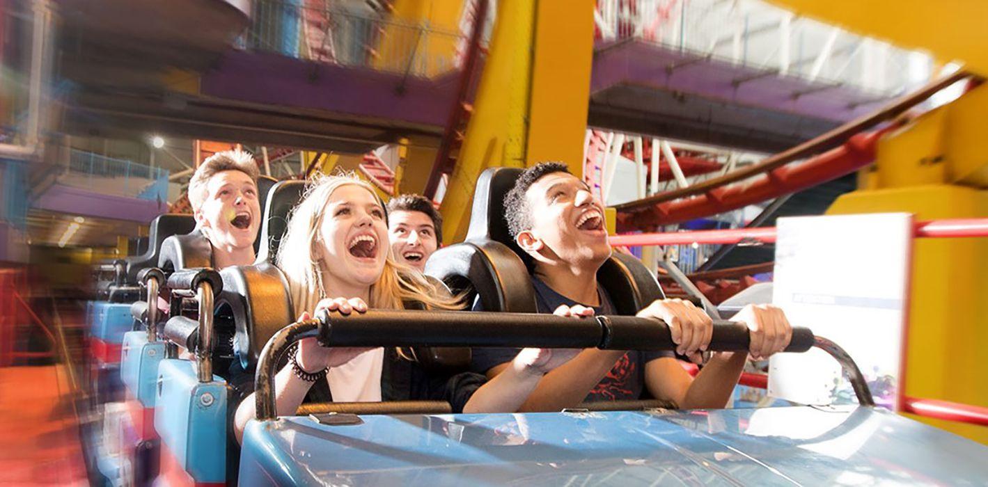 Mindbender coaster at West Edmonton Mall Galaxyland