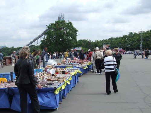 Vendors' Market and Ski Jump at Sparrow Hills in Moscow
