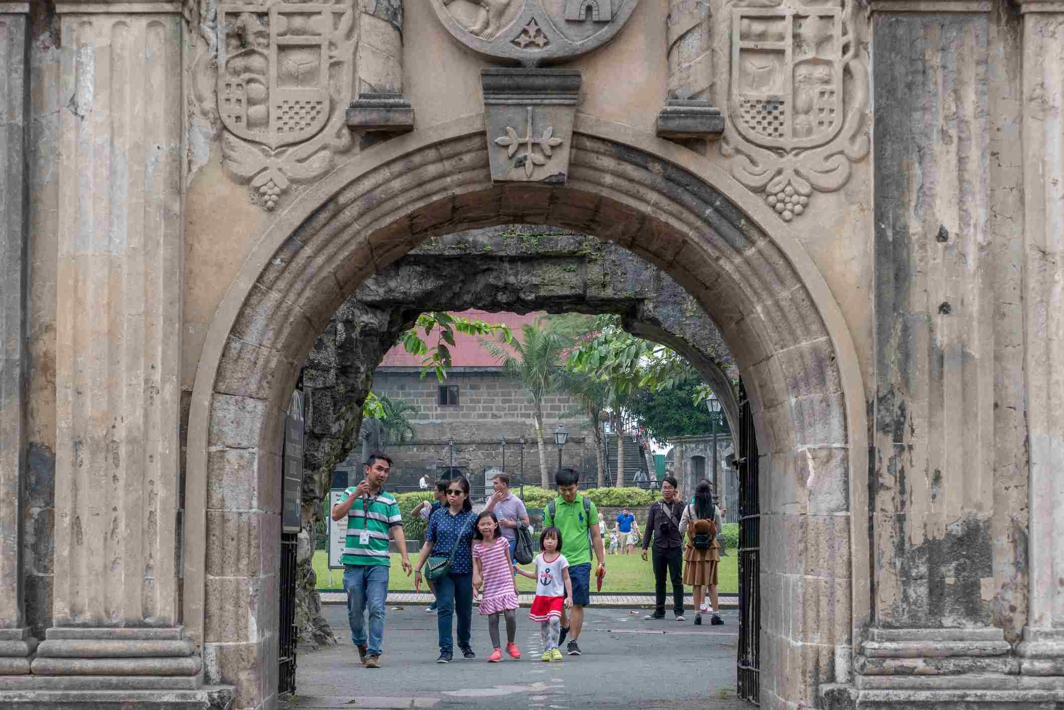Gate into Fort Santiago, Philippines