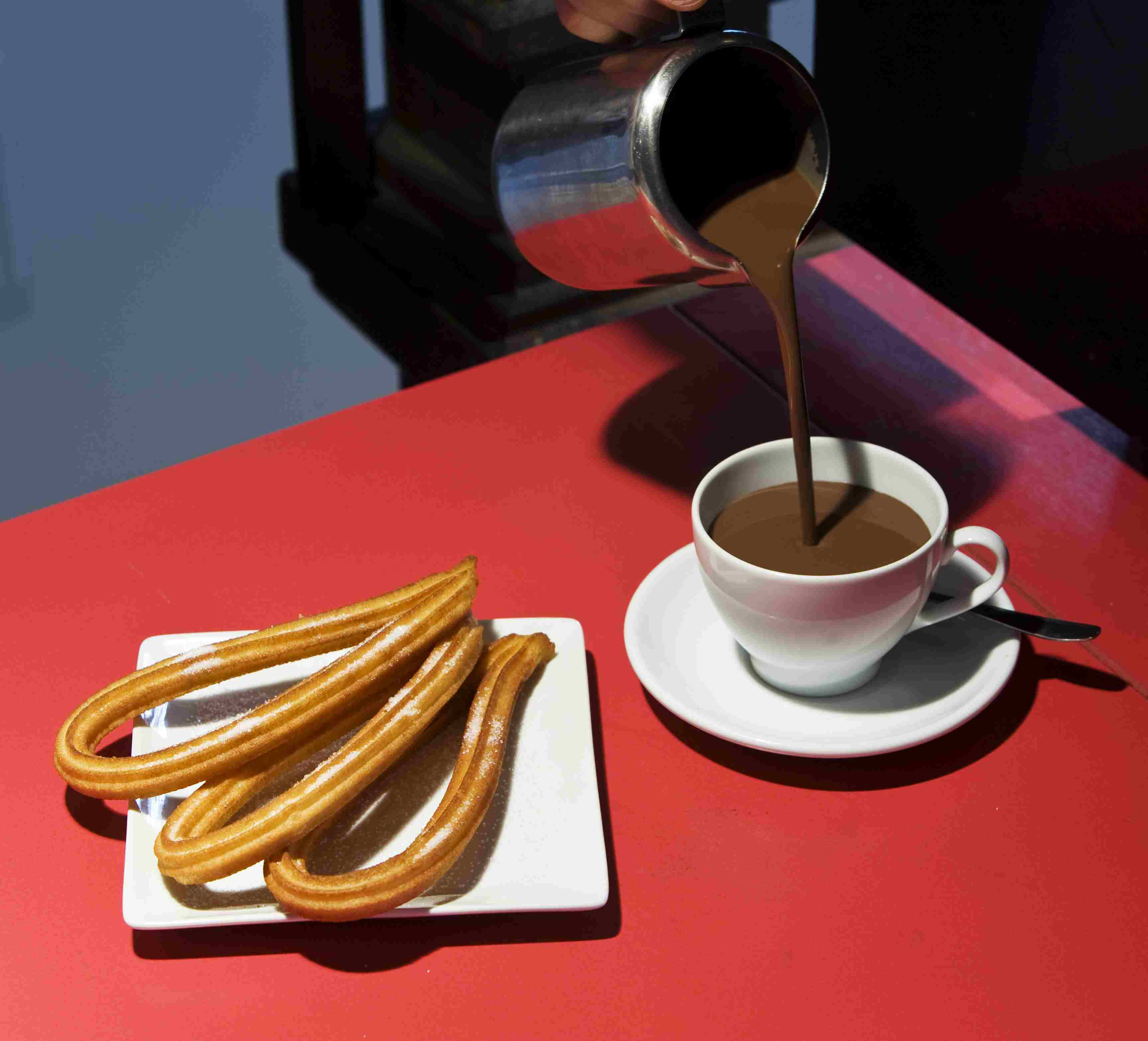 Chocolate con churros at the San Miguel Market.