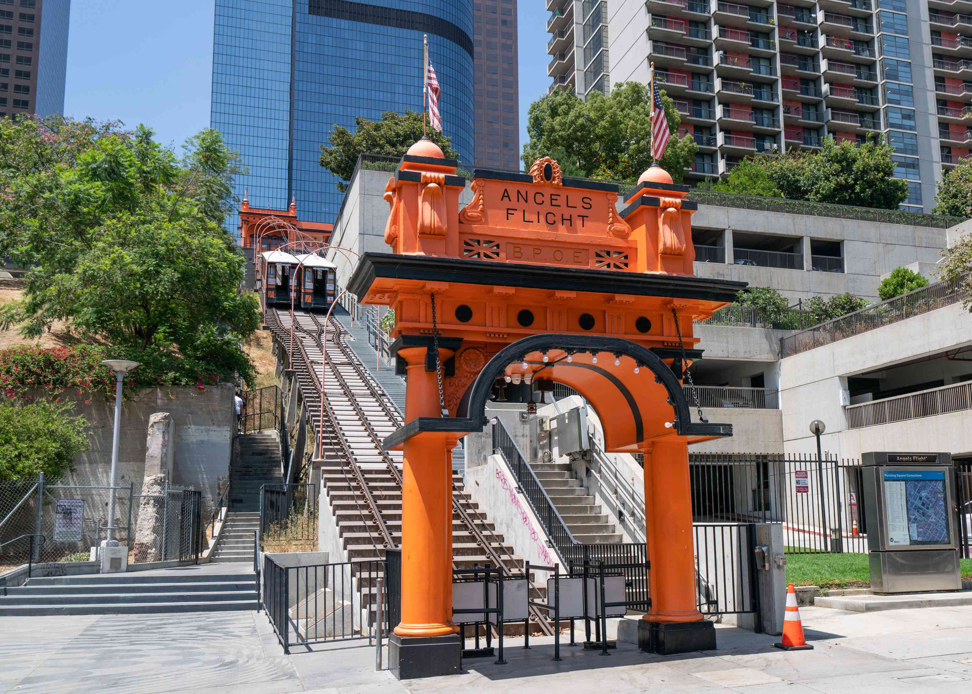 Angels Flight funicular in downtown L.A.