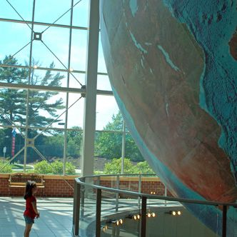 How Big is Eartha the World's Largest Rotating Revolving Globe?