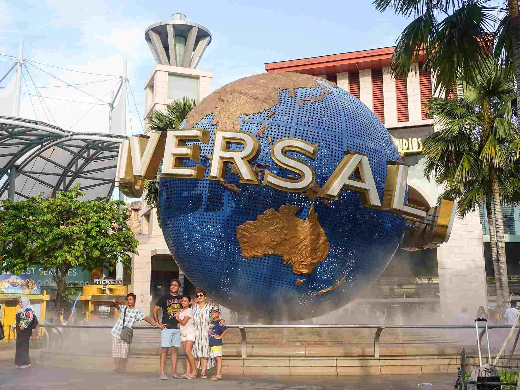 Universal Studios globe at Singapore