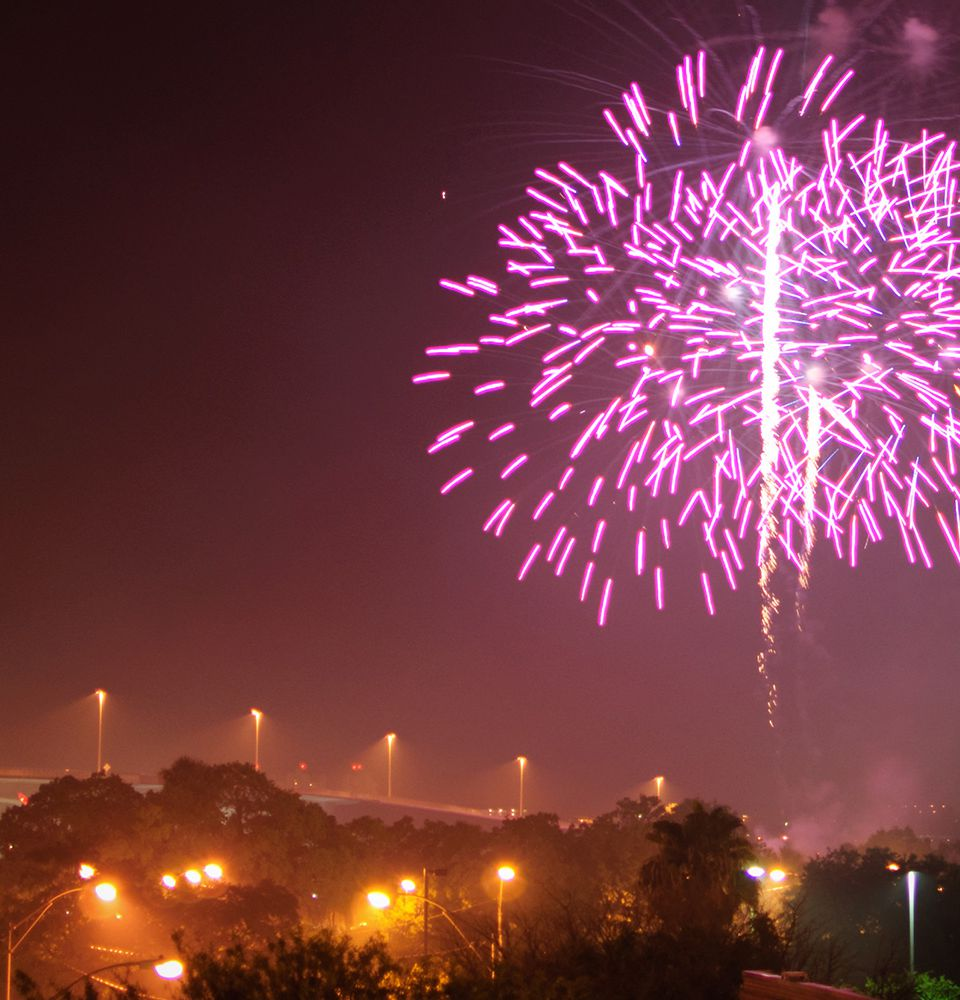 Fireworks over Clearwater, Florida