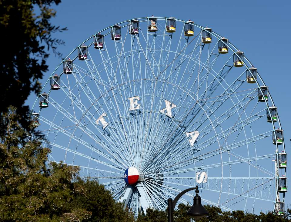 The Texas Star, the Ferris wheel at the Texas State Fair in Dallas, Texas. As of the date of this ph