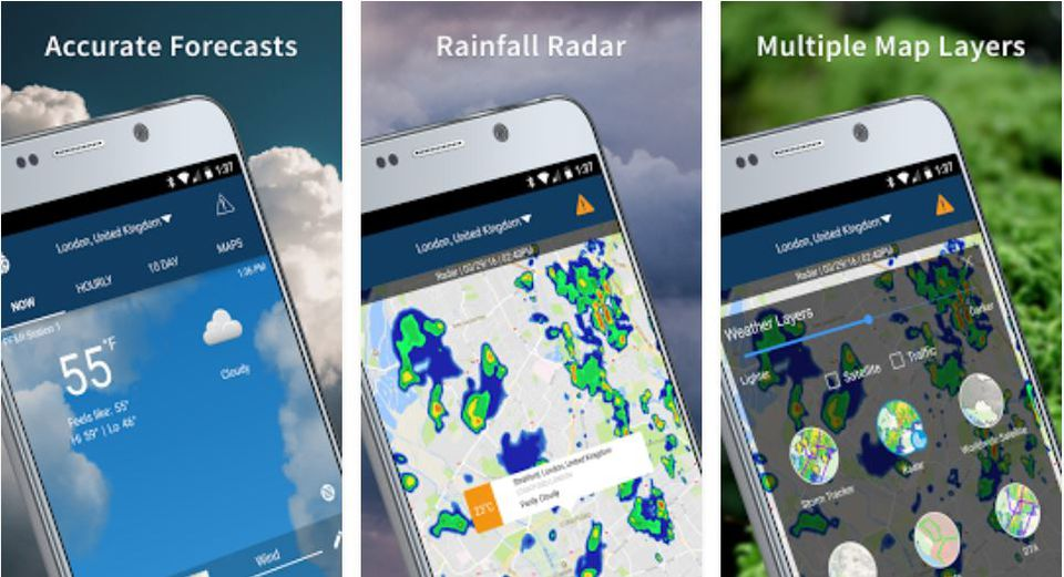 Weather Map Apps.The Best Free Weather Apps For Travelers