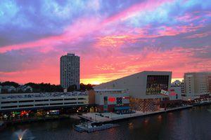 Gaithersburg, Maryland waterfront at sunset
