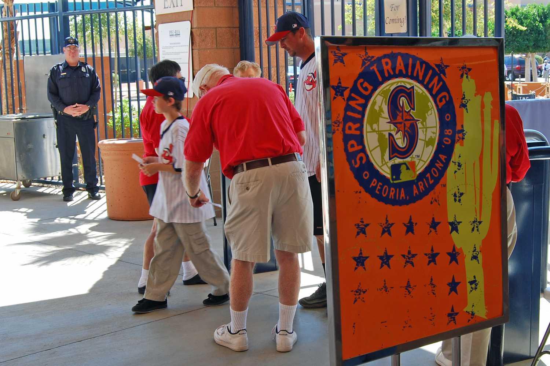 Security at Baseball stadium