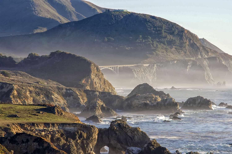 Espectacular vista de la costa de Big Sur