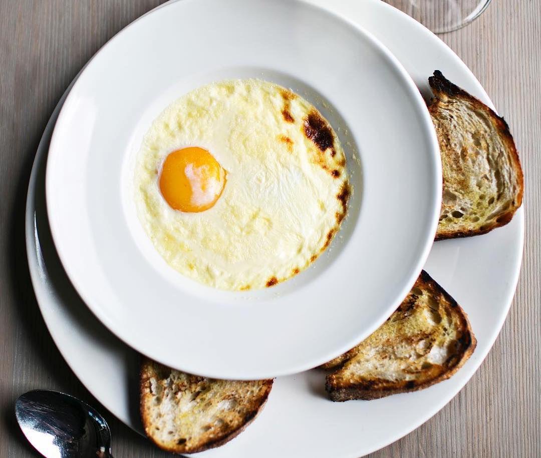 egg yolk in celery cream at Miller Union