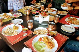 Family meal in Bangalore