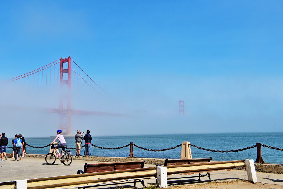 A view of the Golden Gate Bridge in San Francisco.