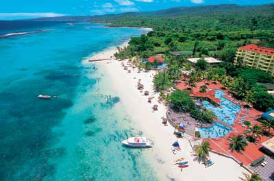 Sandals Dunns River aerial view