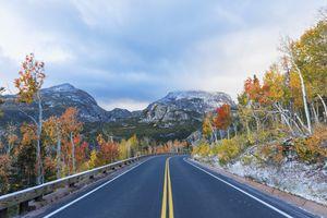 Colorado, Boulder, Colorado, Rocky Mountain National Park, Bear Lake Road, Indian Summer