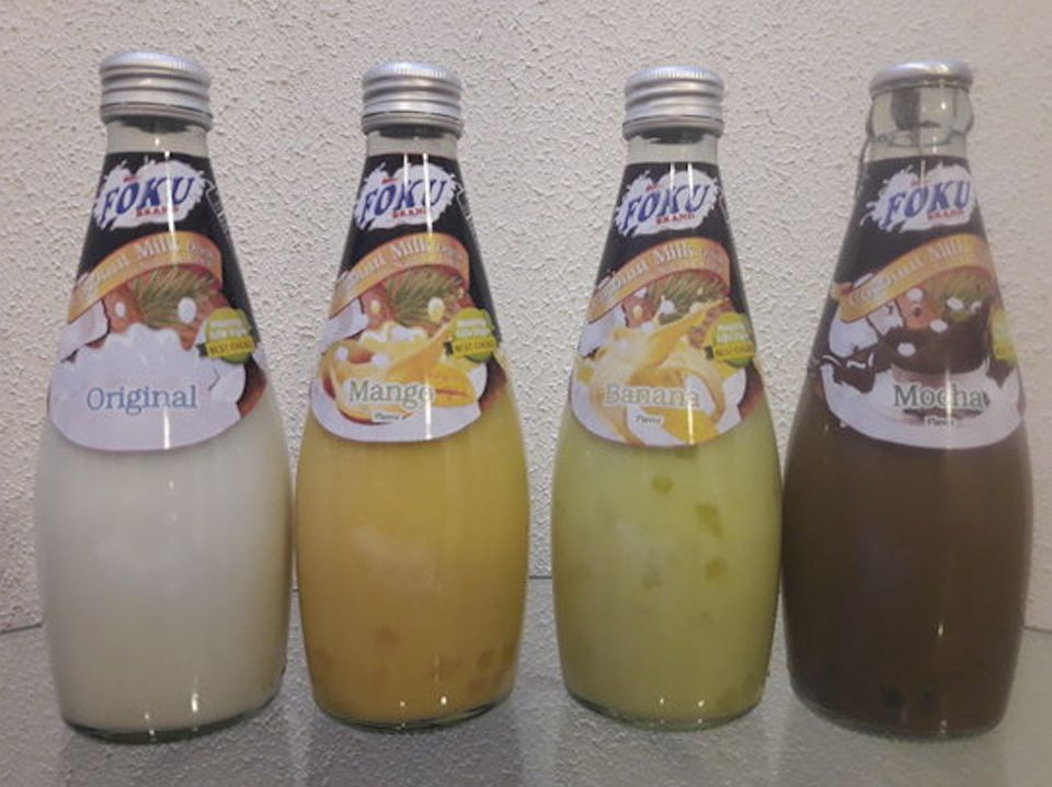Thai sweet milk drinks