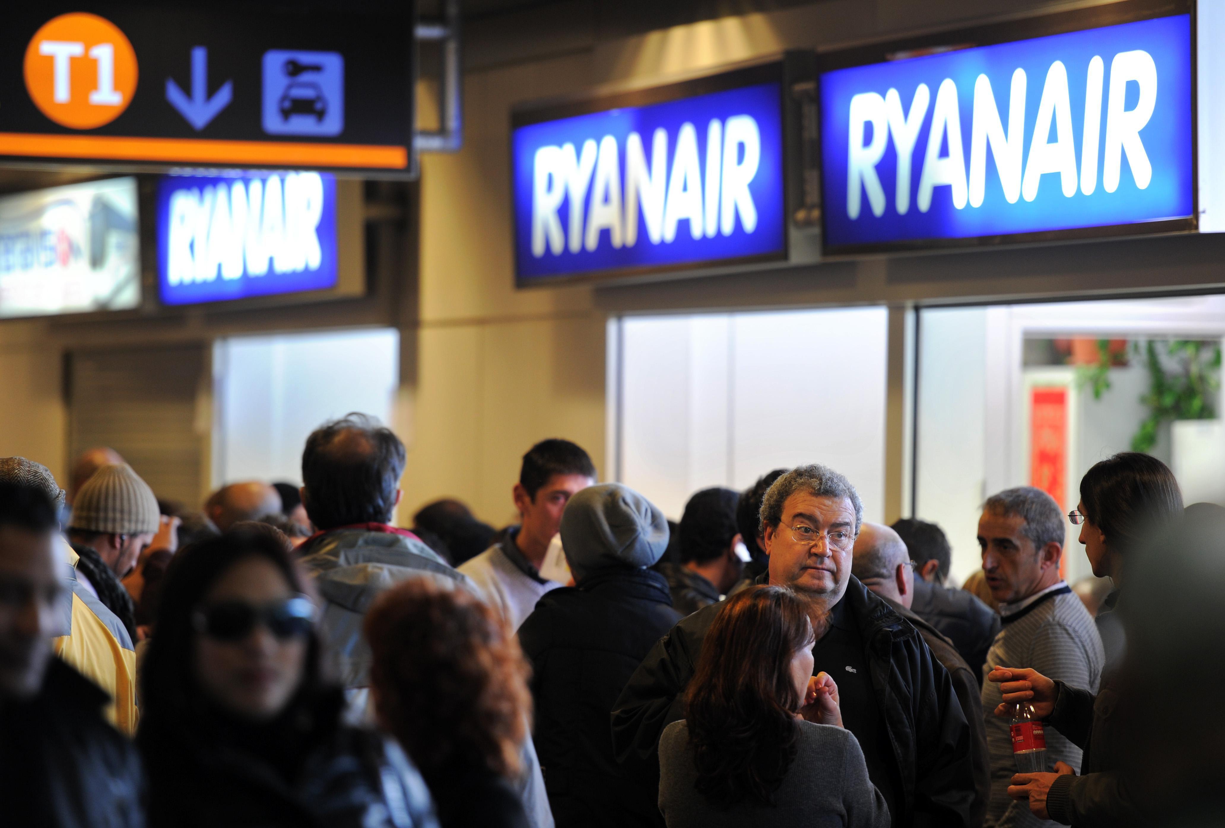 Mostrador de boletos de Ryanair