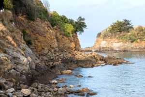 The rocky seaside landscape of Brittany