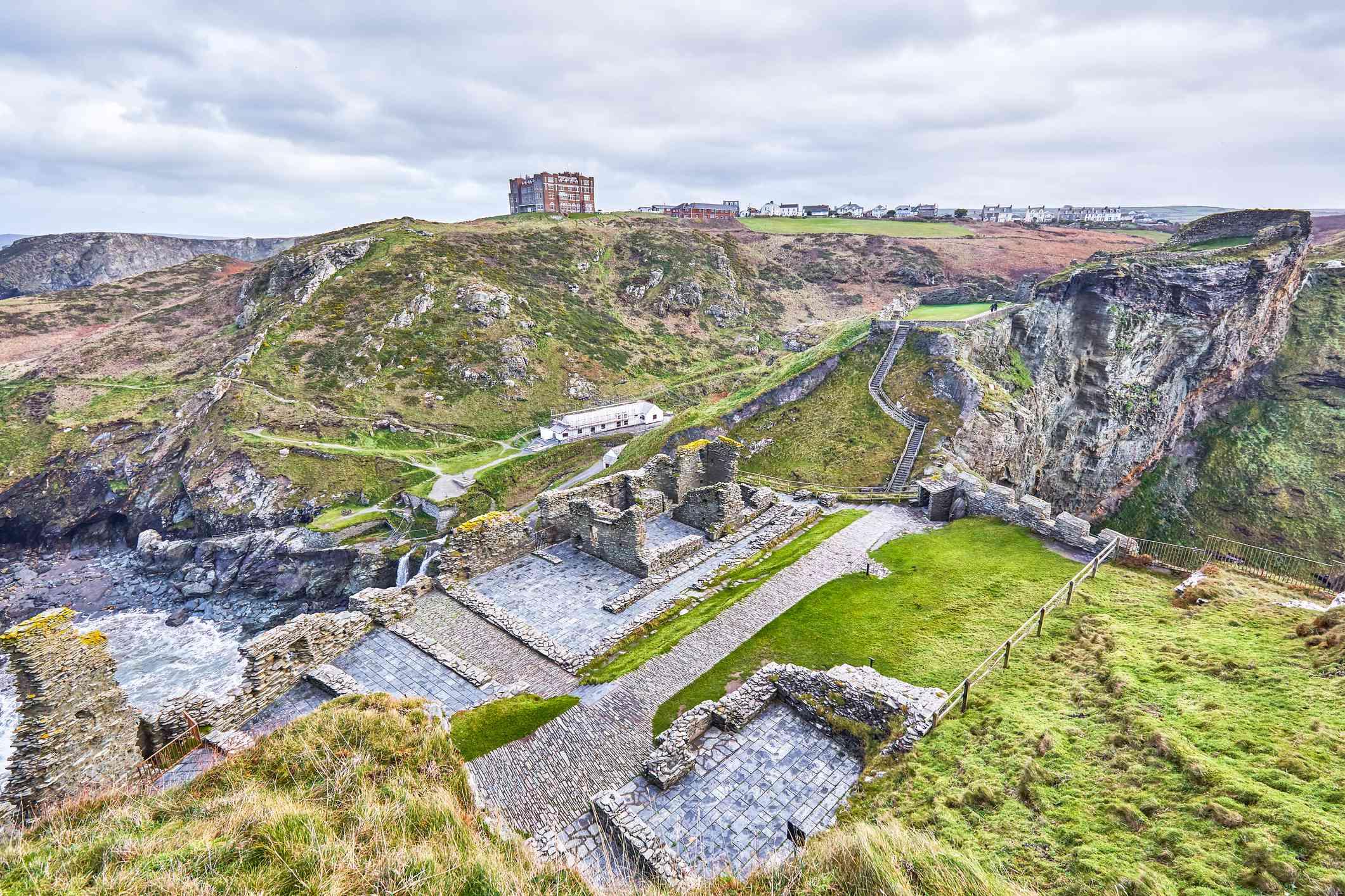 Tintagel Castle Ruins,Cornwall,UK