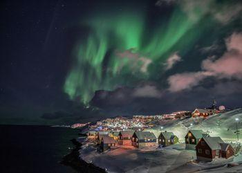 Winter night in Nuuk, Greenland
