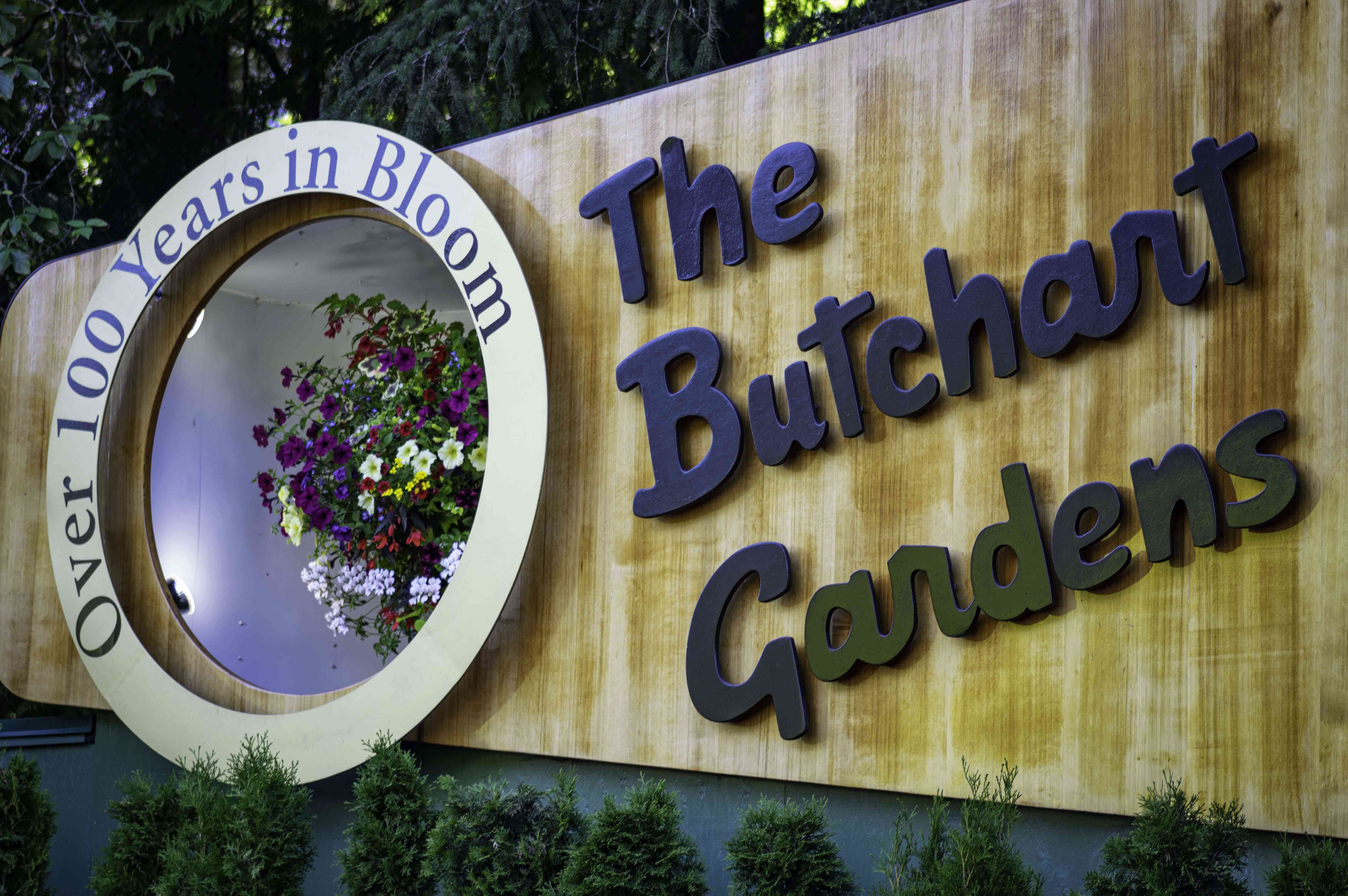The Butchart Gardens Sign