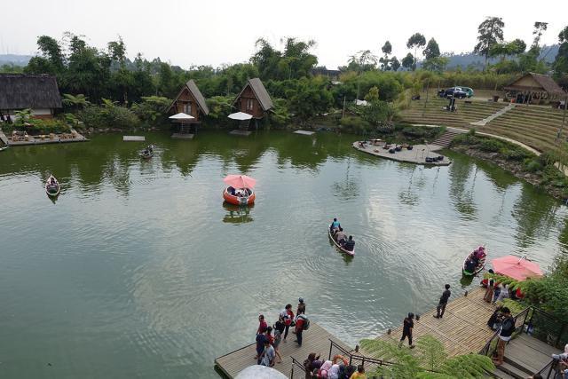 The lake in the middle of Dusun Bambu, Bandung, Indonesia