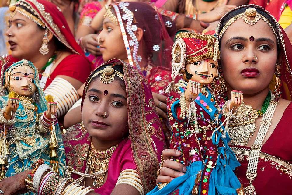 Gangaur festival in India.