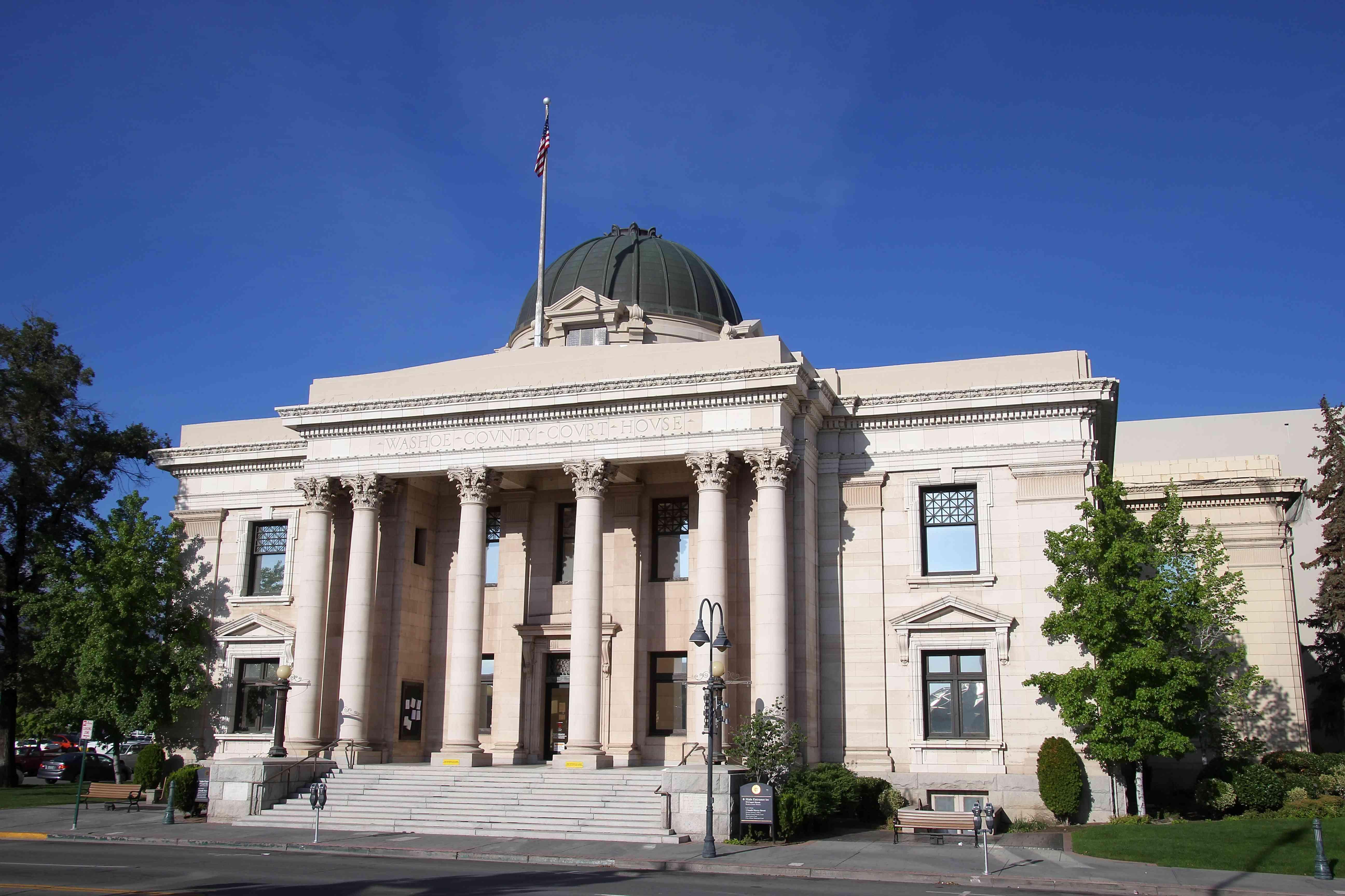 Palacio de justicia del condado de Washoe en Reno, Nevada