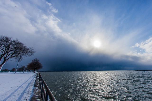 Buffalo snowstorm.