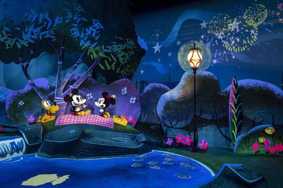 Escena de picnic de Mickey & Minnie's Runaway Railway