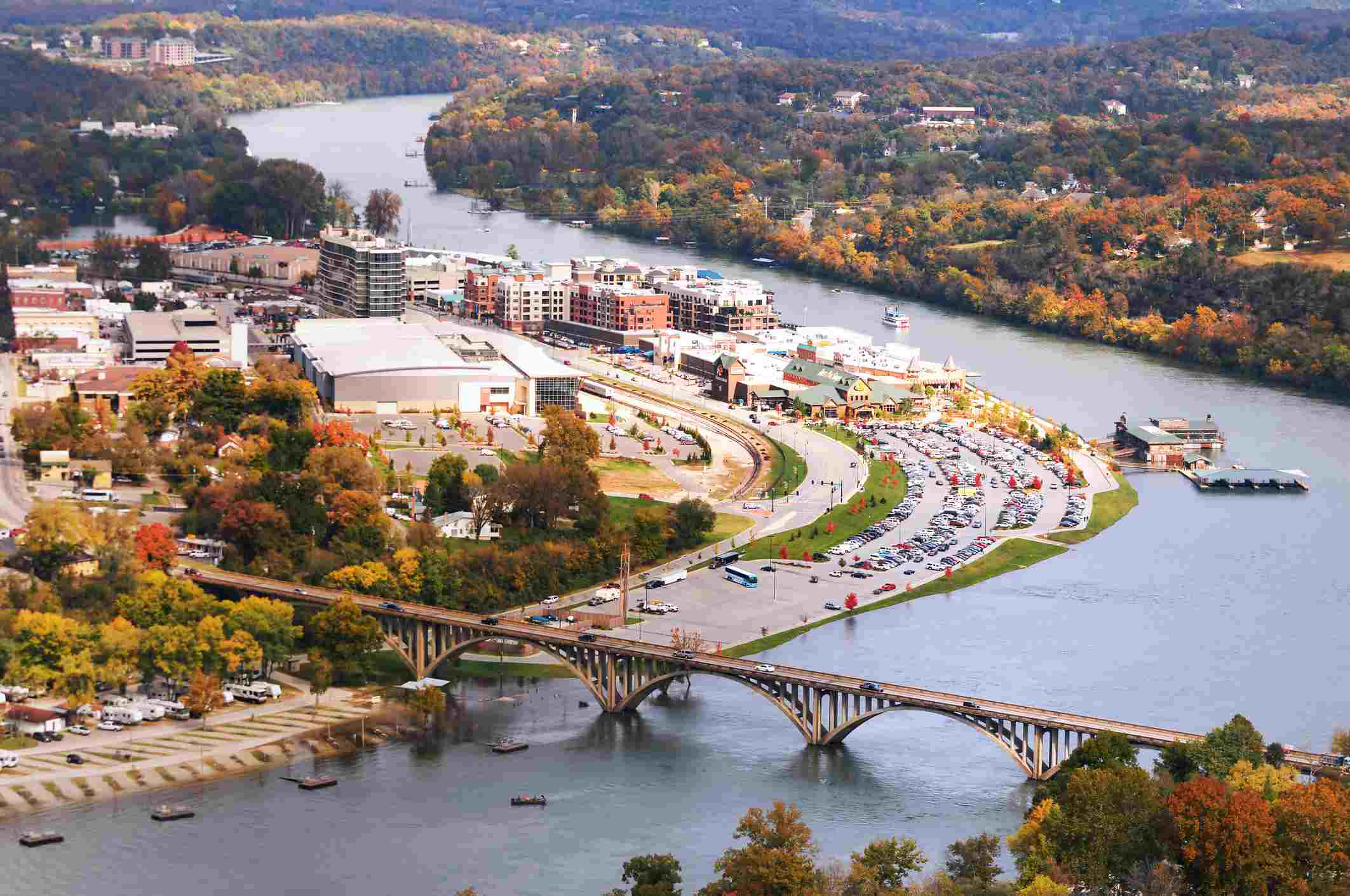 Branson Missouri's downtown on the waterfront