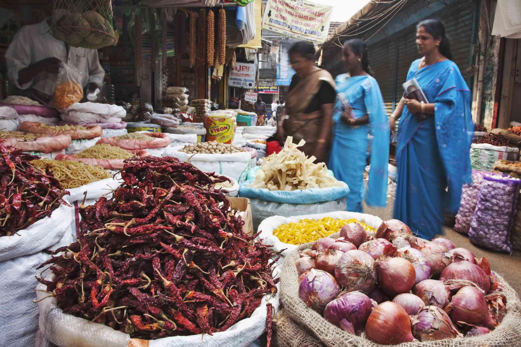 Market in Kochi, Kerala.