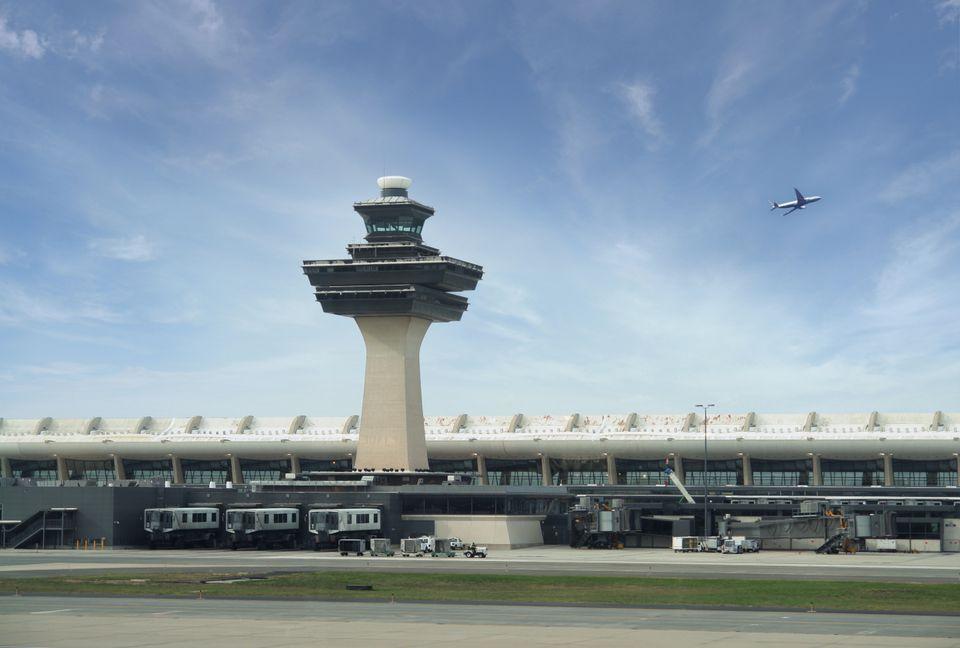 'Dulles International Airport in Washington DC, USA'