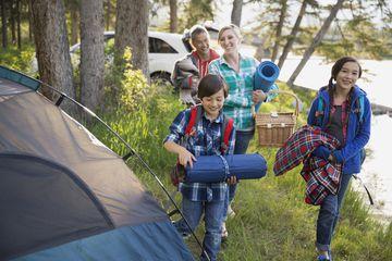 Family camping vacation