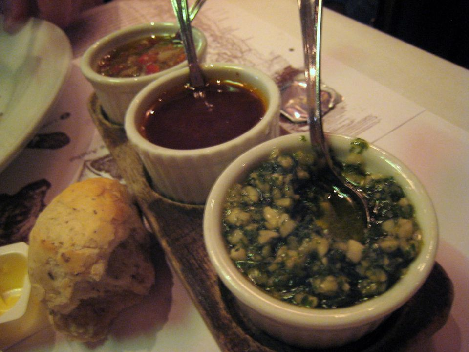 Condiments served at La Pampa in Hong Kong