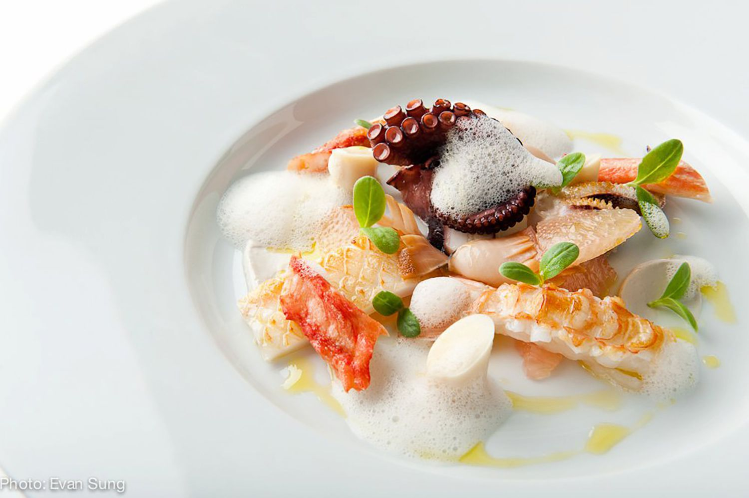 A seafood dish from The Chef's Table at Brooklyn Fare