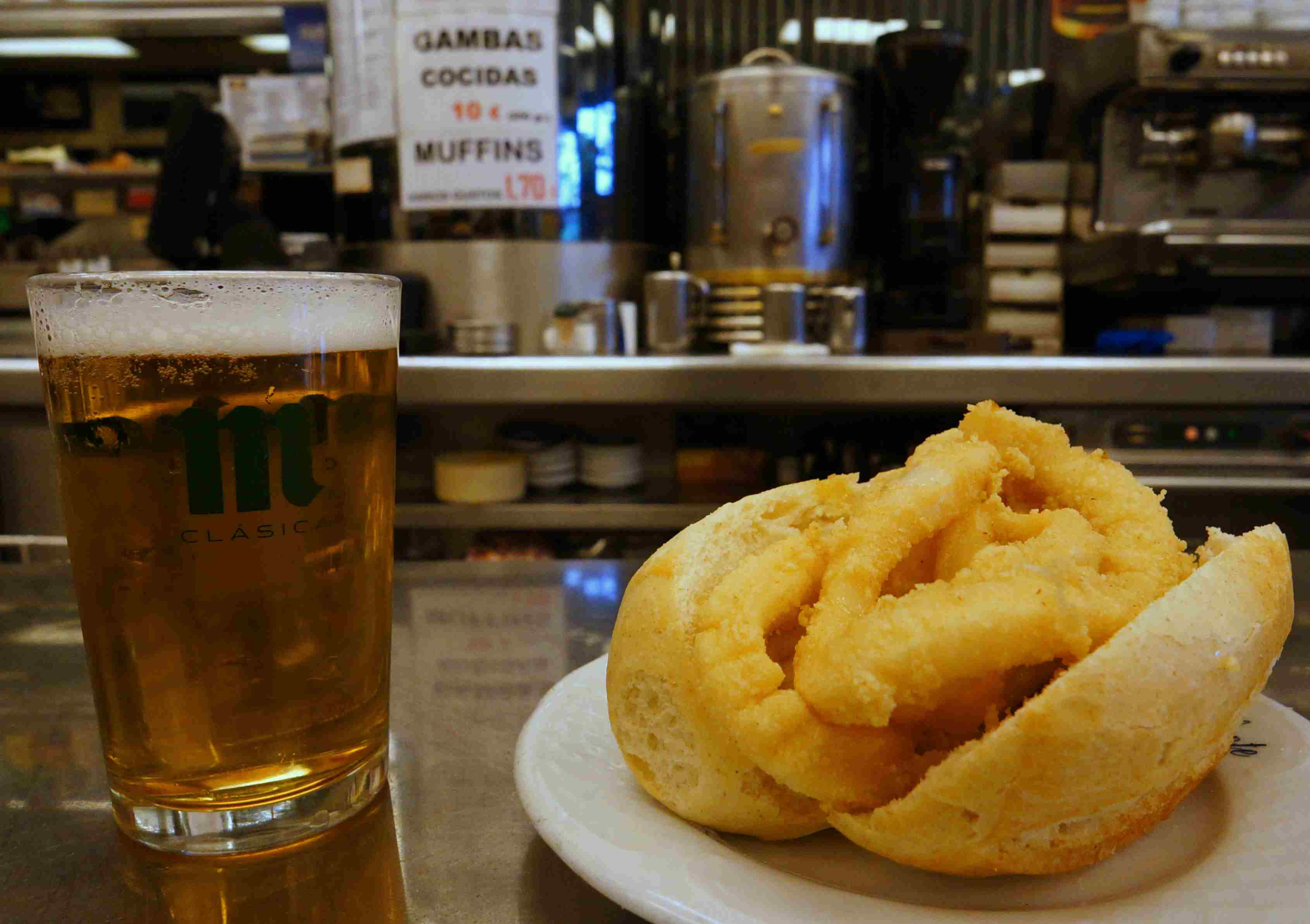 El Brillante in Madrid is famous for its calamare sandwiches