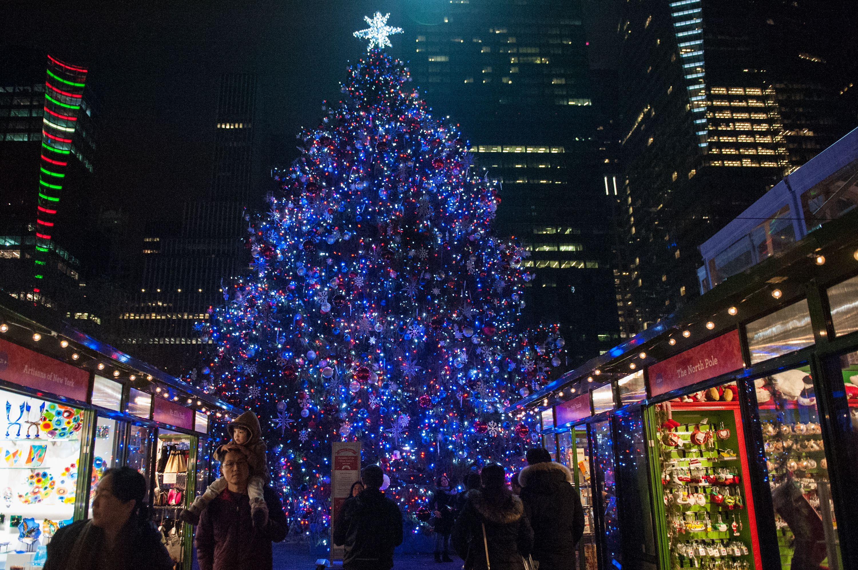 best christmas trees to see in nyc