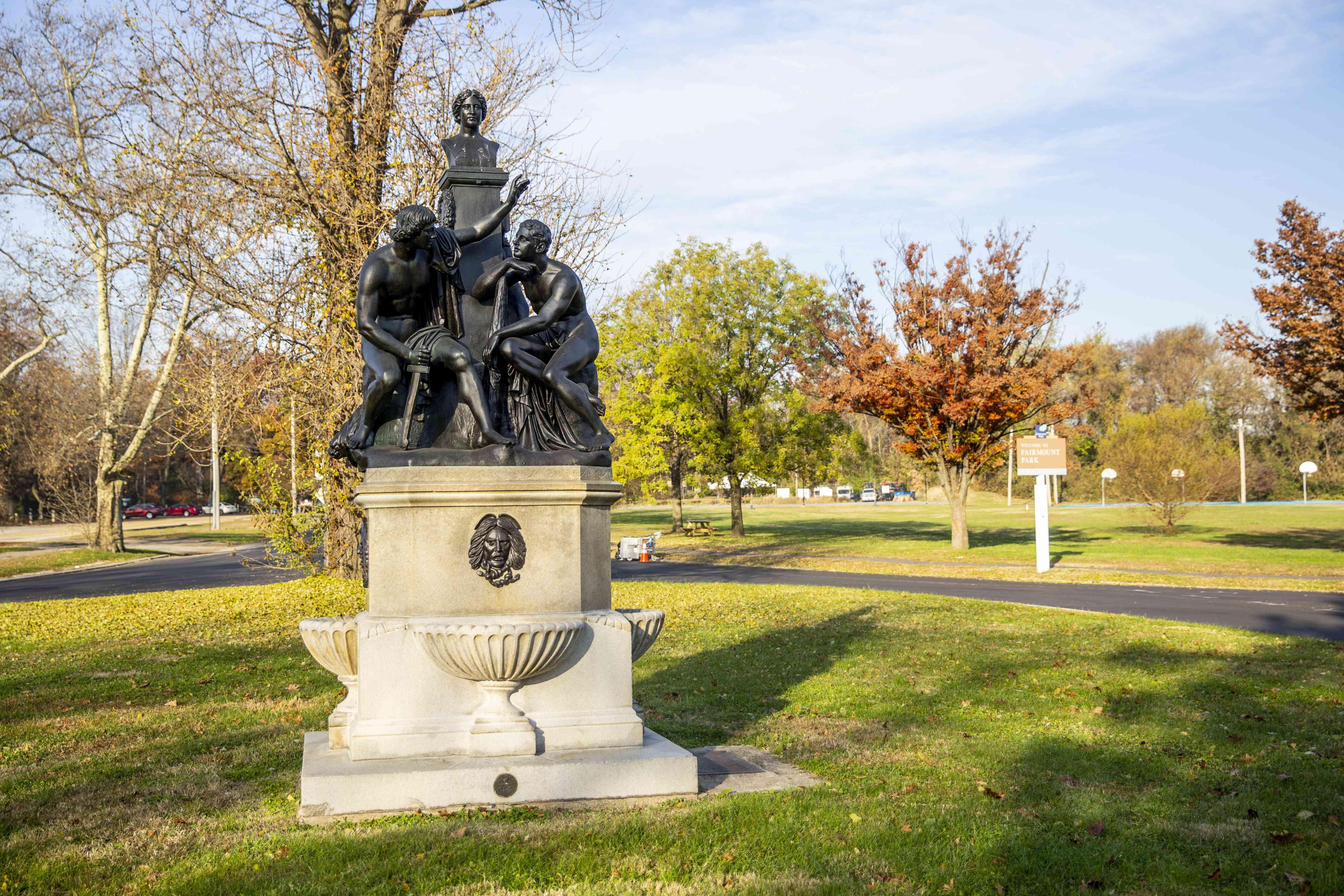 Statue at Fairmount Park in Philadelphia