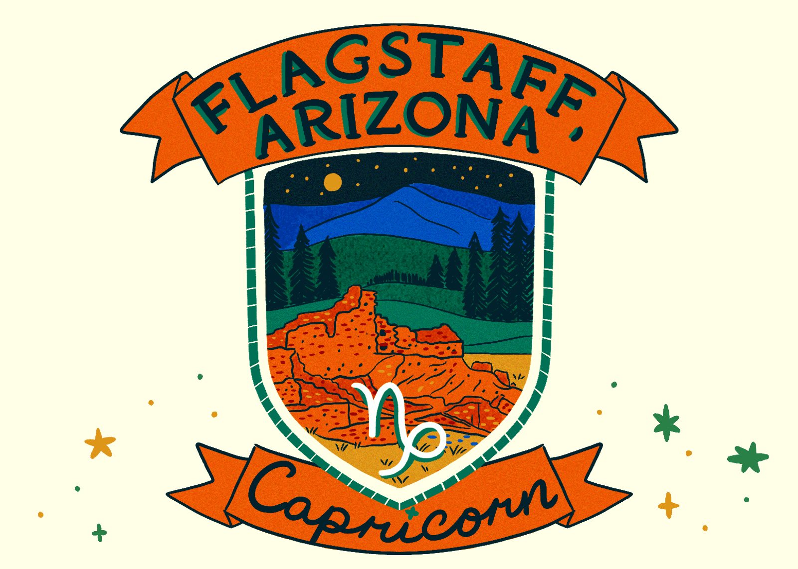 Illustration of Flagstaff, Arizona