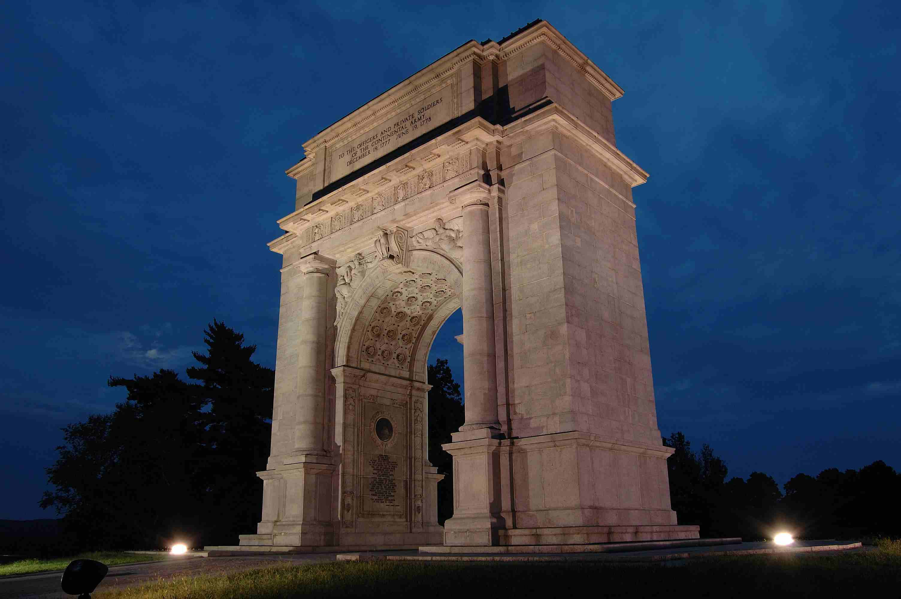 Valley Forge Arch at Valley Forge National Historical Park in Pennsylvania