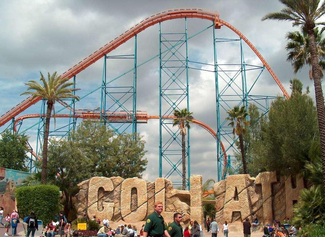 Goliath coaster at Six Flags Magic Mountain.