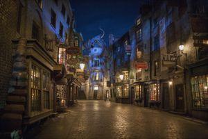 Diagon Alley at Night