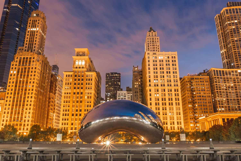 The Cloud Gate at Chicago's Millennium Park