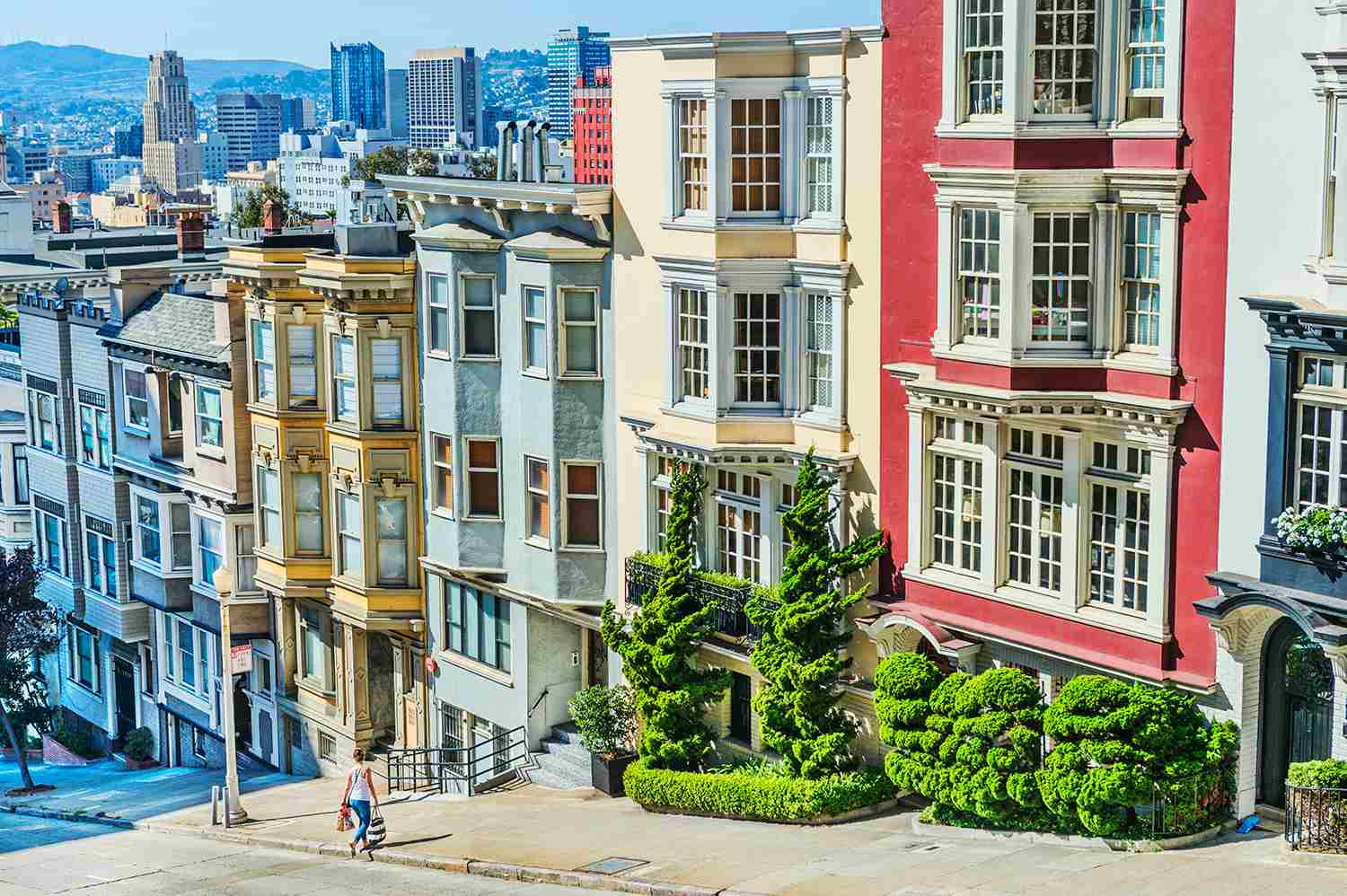 Row of houses on Nob Hill