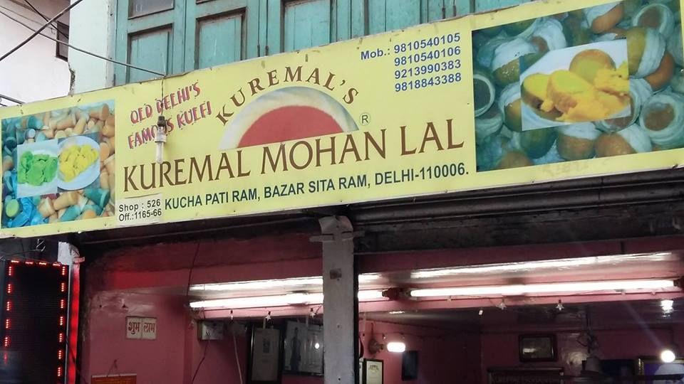 Sign above Kuremal Mohanlal Kulfi Wale