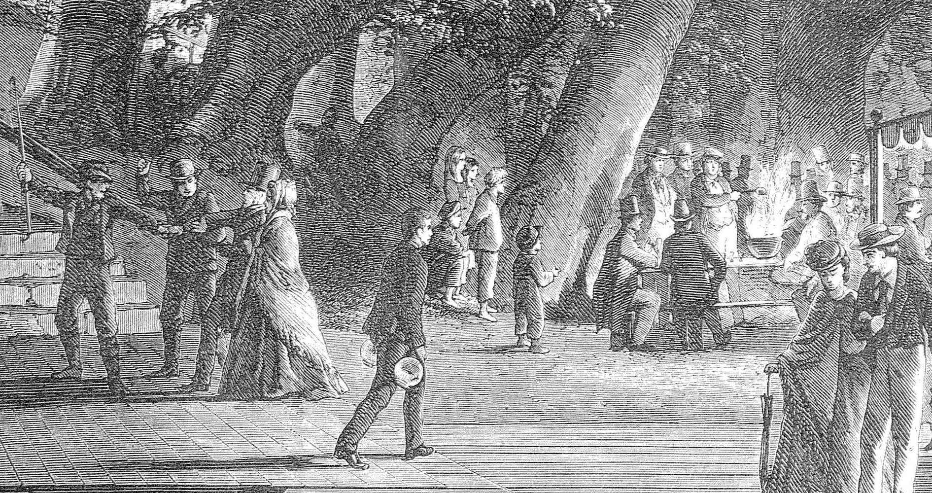 Historical 1867 image of Bakken amusement park