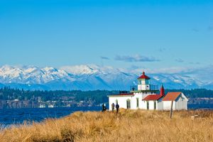 West Point Lighthouse at Discovery Park in Seattle, WA