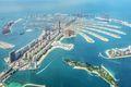 Aerial view of Dubai Palm Jumeirah island, United Arab Emirates